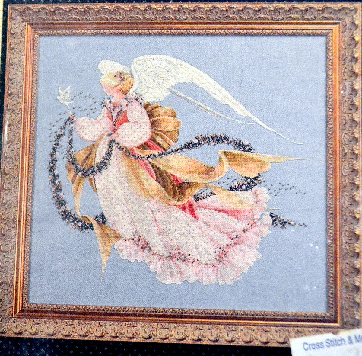 Angel Of Summer Cross Stitch Pattern Lavender Lace Victorian