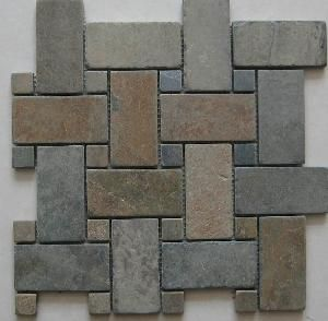 Slate Tile Mosaic China Wall Panel Ledgestone