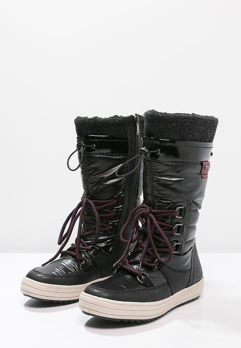neige FRbottes à lacets black ZALANDO de Bottes 80NmwOyvn