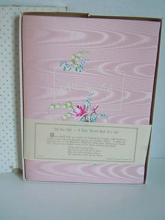 1944 Baby Record Book // NOS in Original Box // All Her Life - A Baby Record of a Girl #babyrecordbook 1944 Baby Record Book // NOS in Original Box // by CottageAndCreek, $64.95 #babyrecordbook 1944 Baby Record Book // NOS in Original Box // All Her Life - A Baby Record of a Girl #babyrecordbook 1944 Baby Record Book // NOS in Original Box // by CottageAndCreek, $64.95 #babyrecordbook