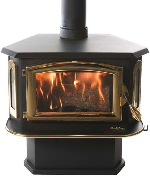 model 18 non catalytic wood stove can be set up either free standing rh pinterest de