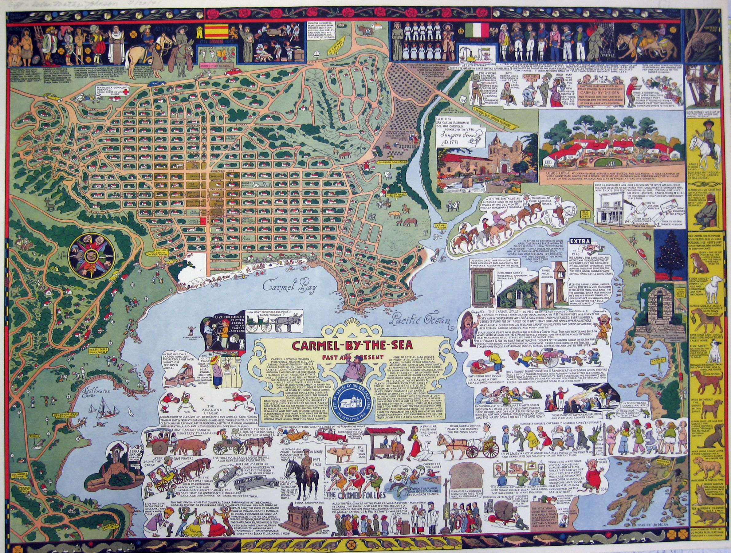 Moras Picture Map Of Carmel California Maps And Mappamundi - Jo mora los angeles map