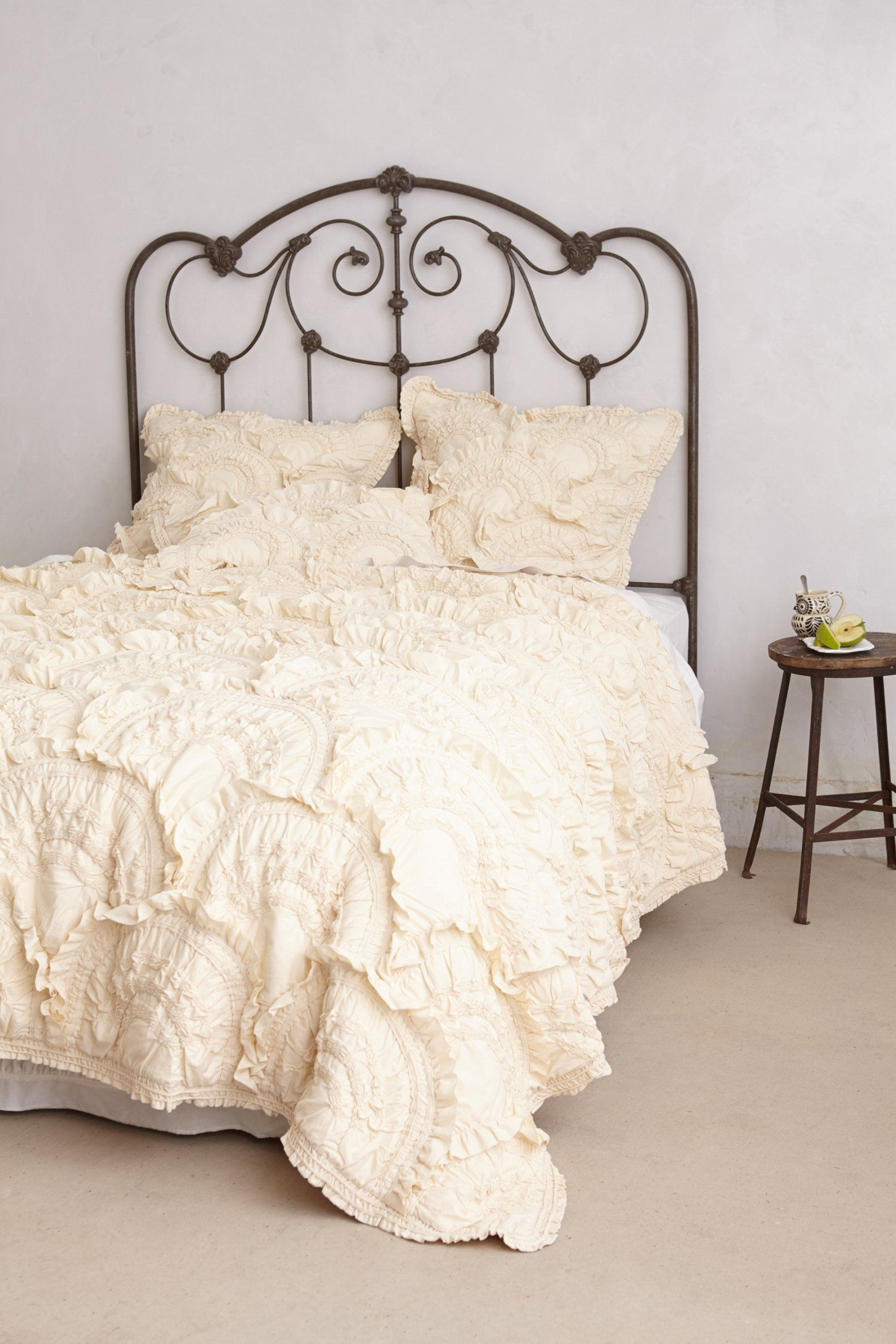 Anthropologie white bedroom - Bed Frames Rivulets Quilt From Anthropologie