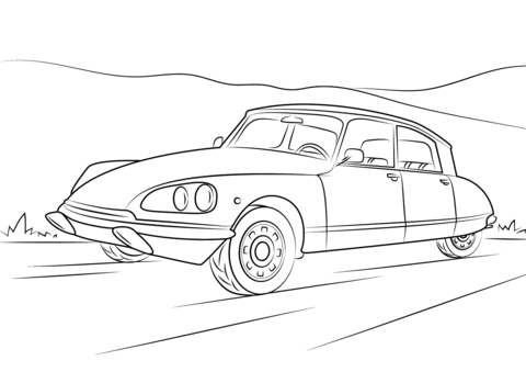 Image Result For Vintage Car Line Drawings Citroen Ds Citroen Car Drawings