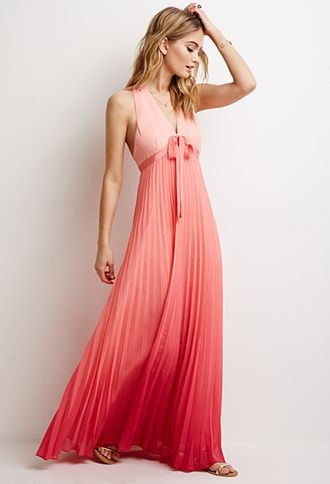Pleated Ombré Maxi Dress | LOVE21 | #f21contemporary | forever 21 ...