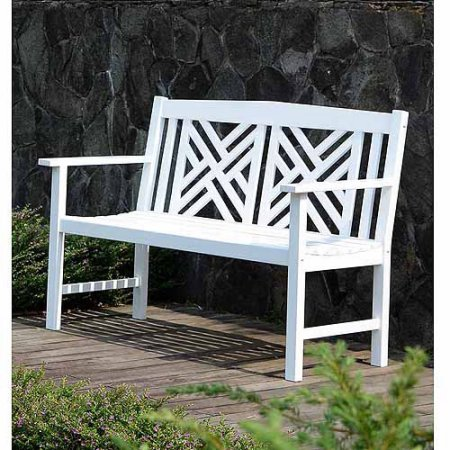 Patio Garden White Outdoor Bench Outdoor Remodel Outdoor Bench