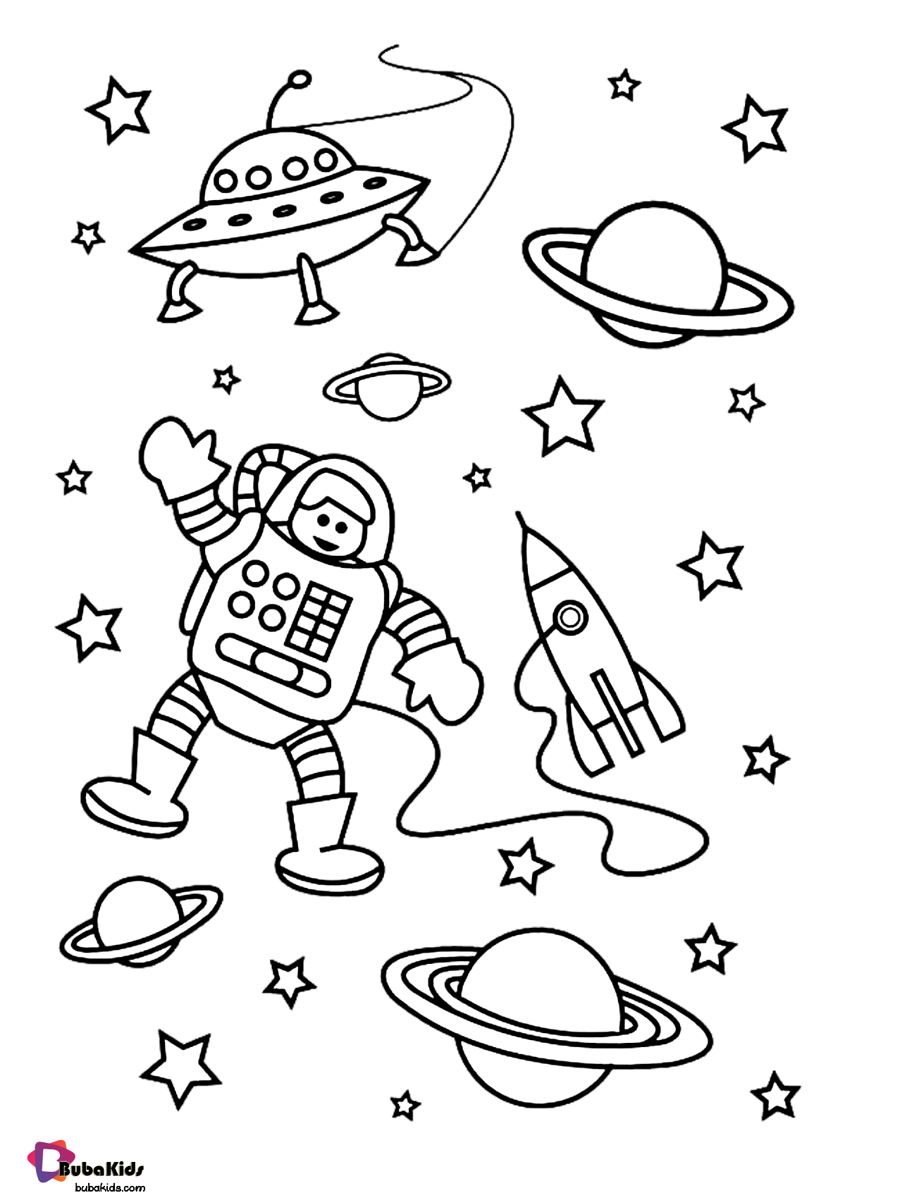 Astronaut In Outer Space Coloring Page Free Download To Print Collection Of Cartoon Coloring P In 2020 Space Coloring Pages Earth Coloring Pages Space Coloring Sheet