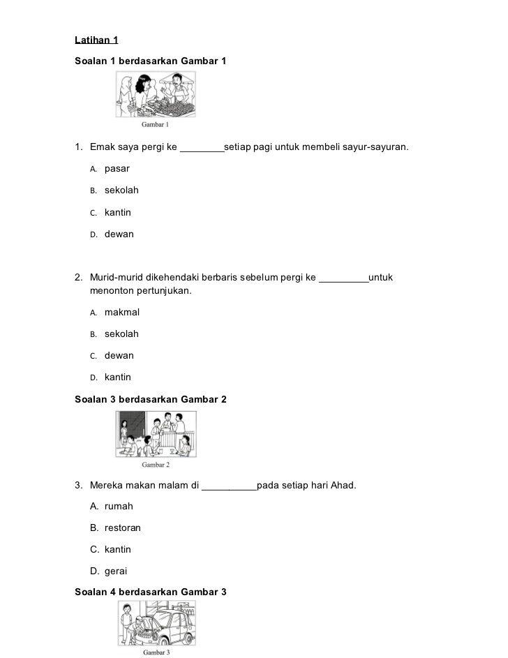 Latihan Kata Nama Tahun 4 School Worksheets Image School
