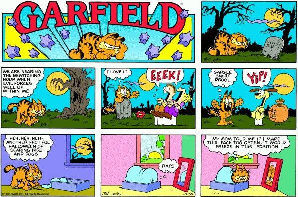 Halloween Garfield Comics Comic Strips Comics