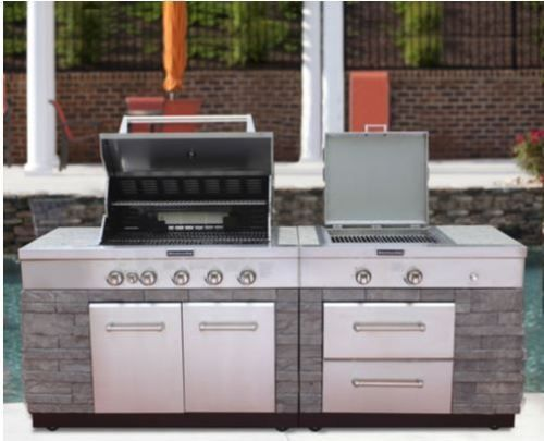 Huge Outdoor Kitchen Kitchenaid Jenn Air Bbq Island