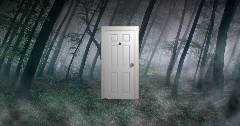Strange White Door in the Hellgate Forest. & Strange White Door in the Hellgate Forest. #StrangeWhiteDoor ...