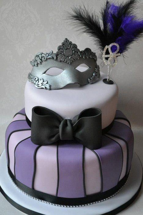 Masquerade Birthday Cake Google Search Cakes Pinterest