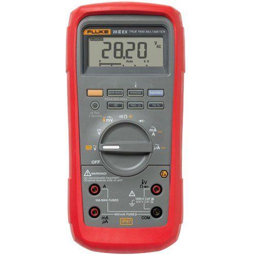 Fluke 28iiex Etl Intrinsically Safe True Rms Digital Multimeter Lcd Display 200 To 1090 Degrees C Temperature Range 7 8 Length X 3 93 Width X 2 5 Height Multimeter Digital Electrical Testing Tools