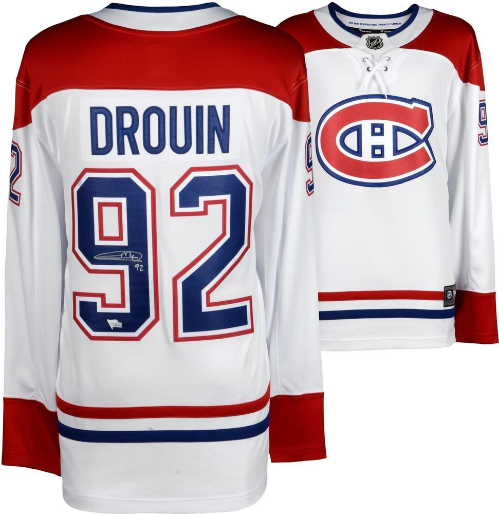 bd6b6e90d Jonathan Drouin Montreal Canadiens Autographed White Fanatics Breakaway  Jersey