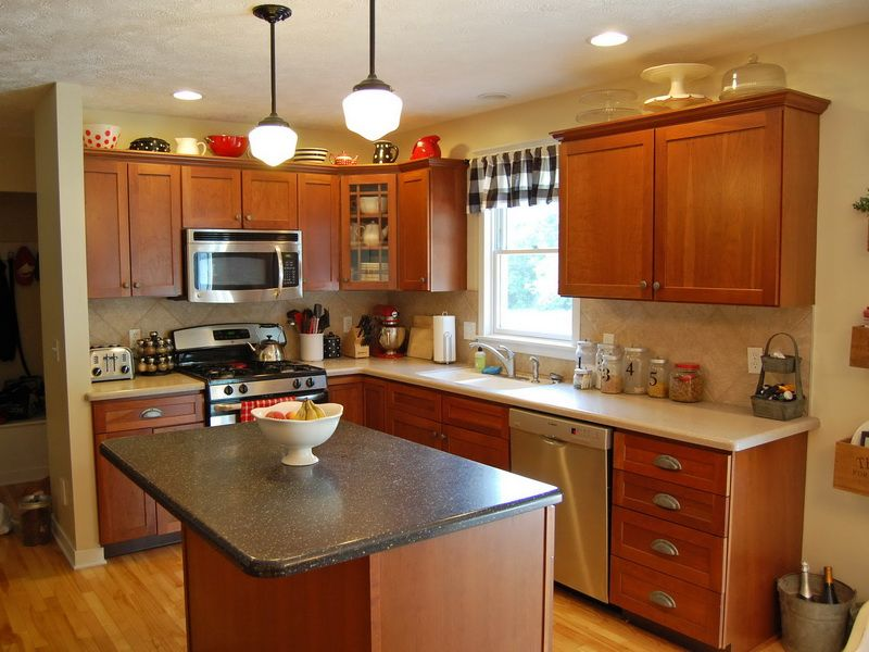 Pretty and bright kitchen with light neutral paint color for Neutral red paint colors