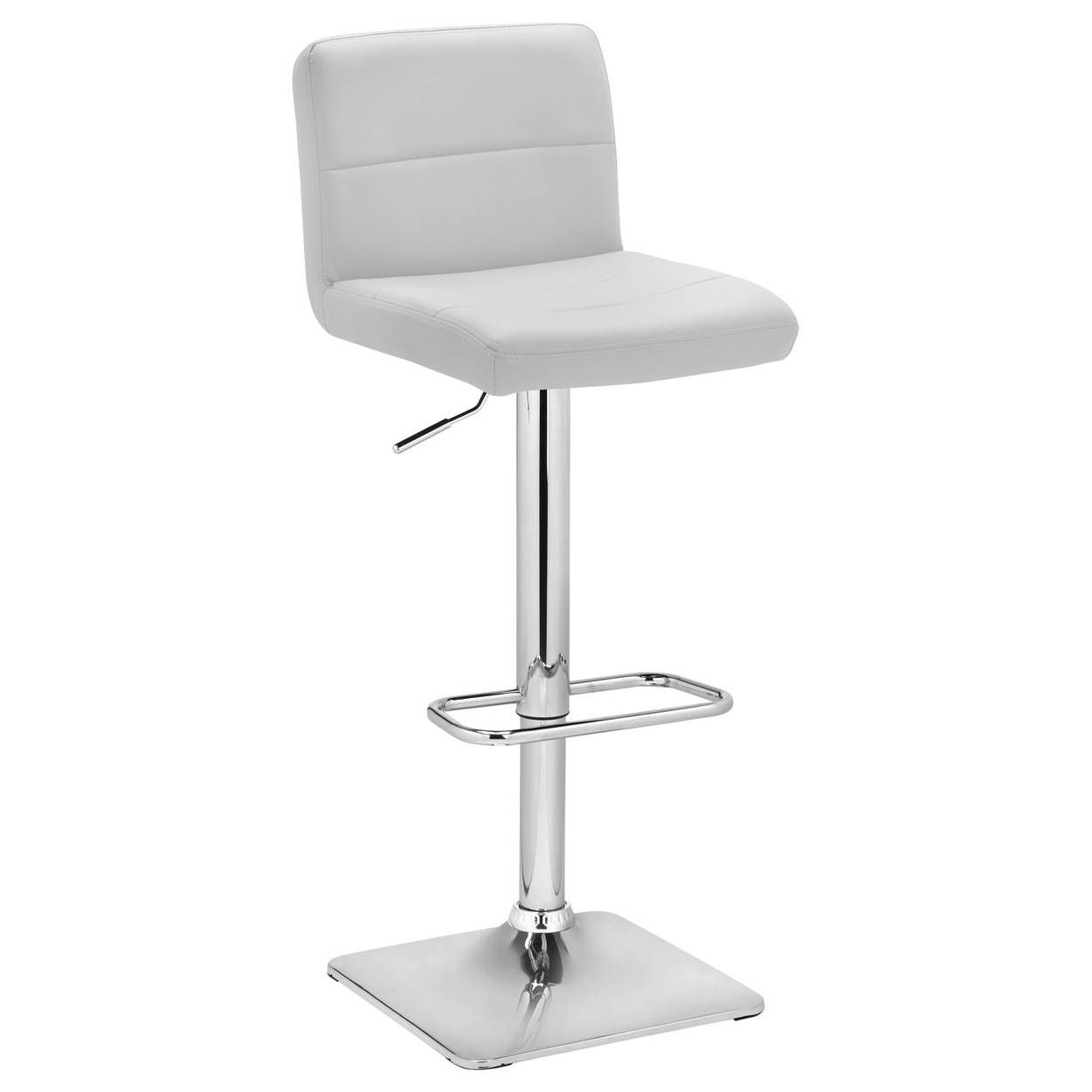 Matte Faux Leather And Chrome Adjustable Bar Stool Adjustable Bar Stools Bar Stools Stool