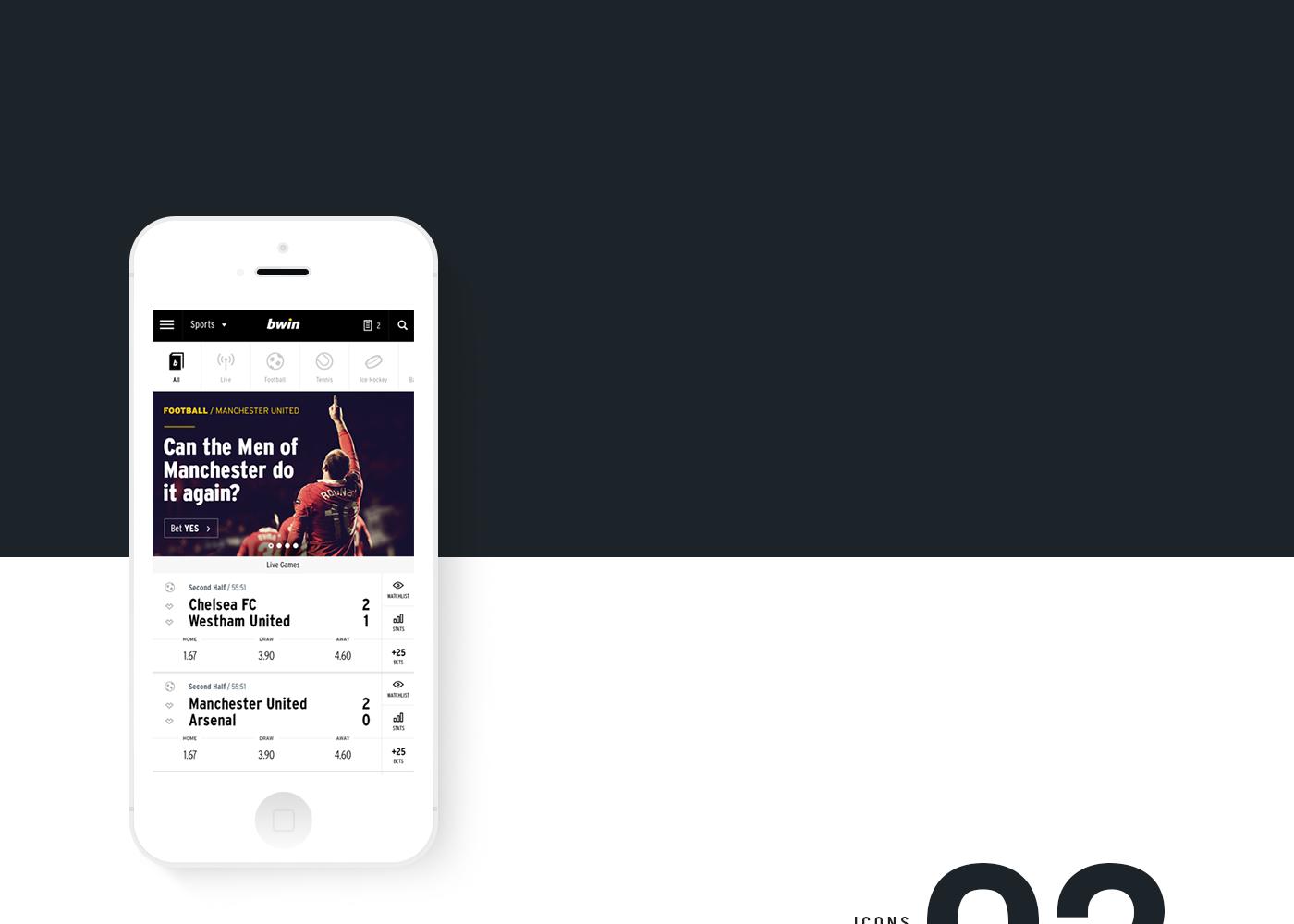 BWIN Mobile Web App on Behance Mobile web, Web dashboard