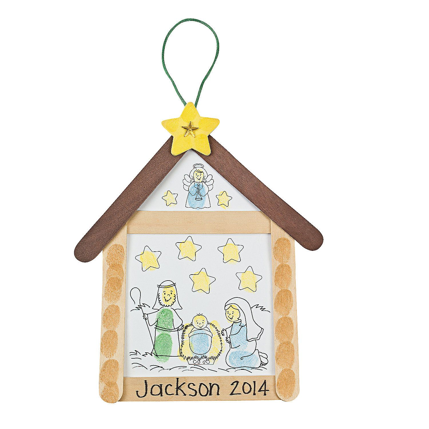 Nativity Thumbprint Sign Craft Kit - OrientalTrading.com really like this one