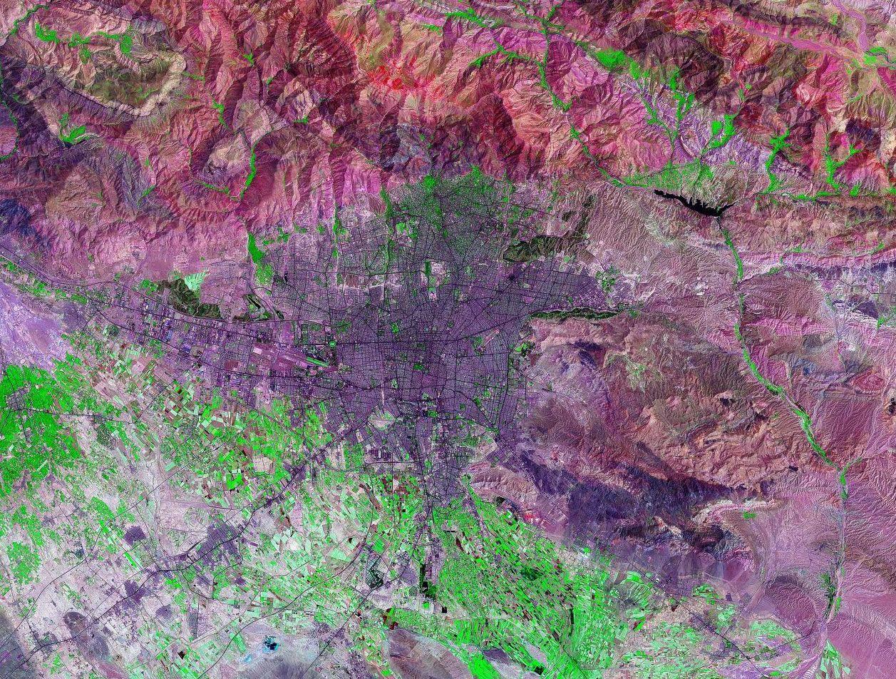 Tehran Satellite Image Tehran Satellite Image