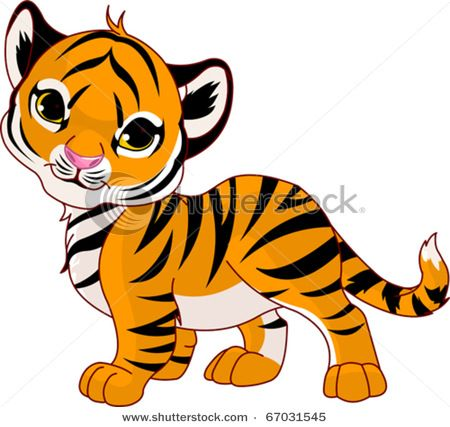 cute tiger clip art vector clip art picture of a very cute baby rh pinterest ie  cute tiger cub clipart