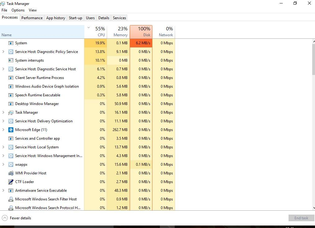 Solved Windows 10 100 Disk Usage On Startup 5 Working Solutions