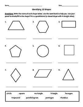 Identifying Quadrilaterals/Quadrangles and Naming 2D Shapes ...