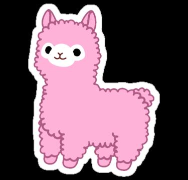Pink Alpaca Sticker By Scraleos Cute Stickers Kawaii Stickers Print Stickers
