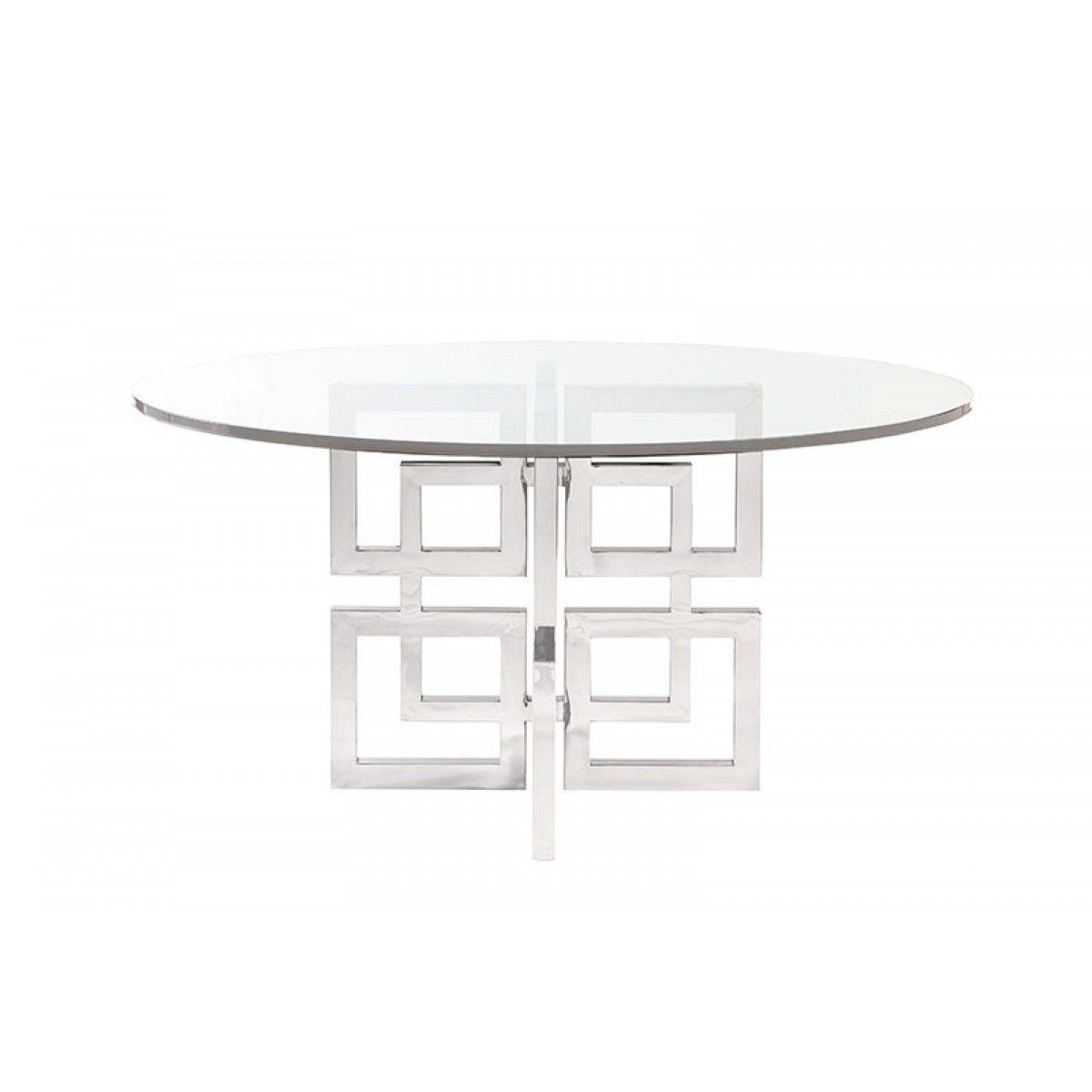 bernhardt soho luxe round metal dining table lake 2 pinterest rh pinterest com