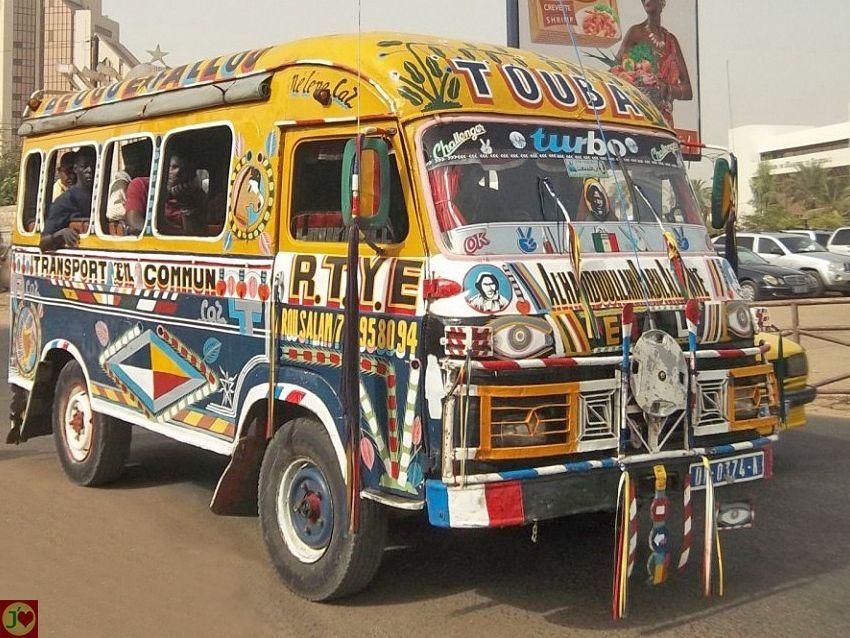 Political Map Of Senegal%0A Le c  l  bre v  hicule de transport en commun appel     car rapide   ou   super    au S  n  gal  v  ritable objet d u    art populaire   Mes villes   Pinterest