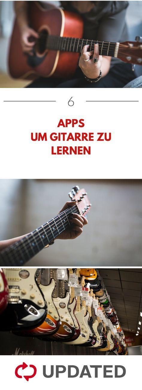 Mit diesen 6 Apps kannst du dir selbst das Gitarre-spielen beibringen! UPDATED zeigt dir, welche das sind. #gitarre #apps #updated #pianomusic