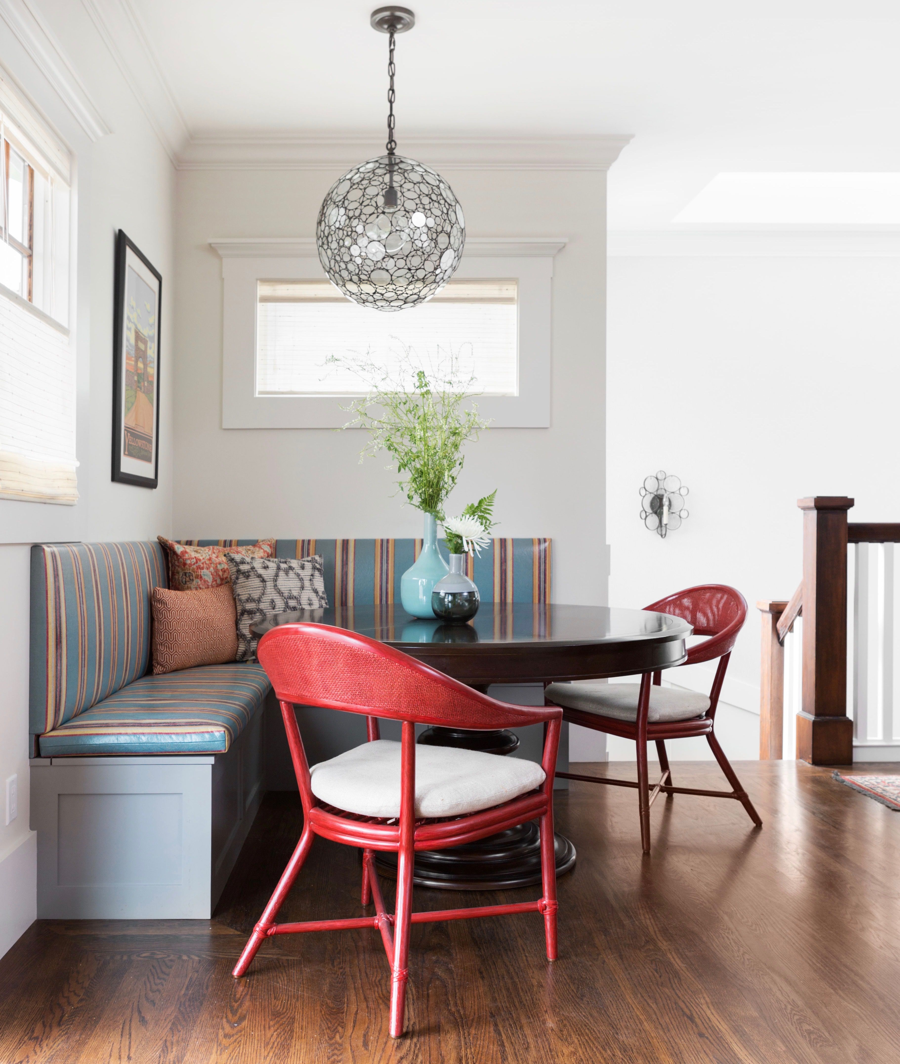 32 Kitchens With Colorful Seating Dining Decor Dining Room