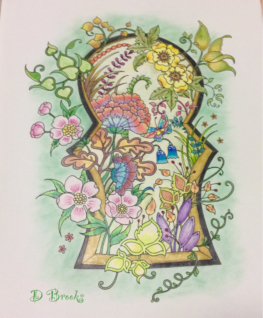 Through The Keyhole From Ivy And Inky Lovely Page To Colour