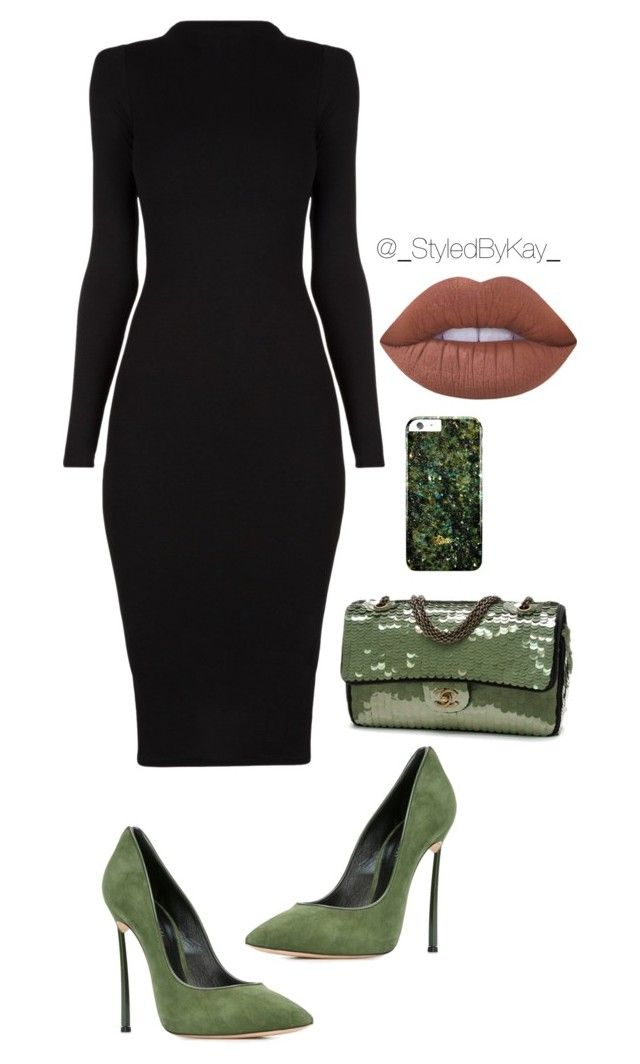 """Untitled #242"" by keyona on Polyvore featuring Chanel, Casadei and Lime Crime"