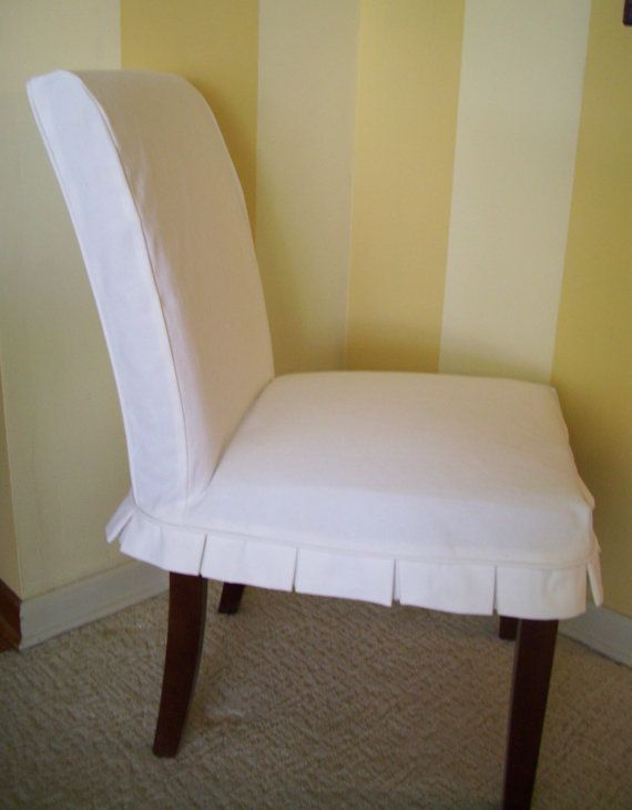 Parson Chair Slipcover Box Pleat Dining Washable