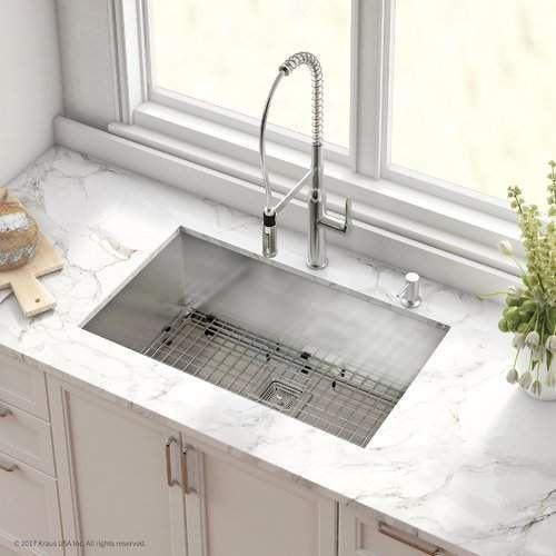 pax stainless steel 16 gauge 31 5 x 18 5 undermount kitchen sink rh pinterest com