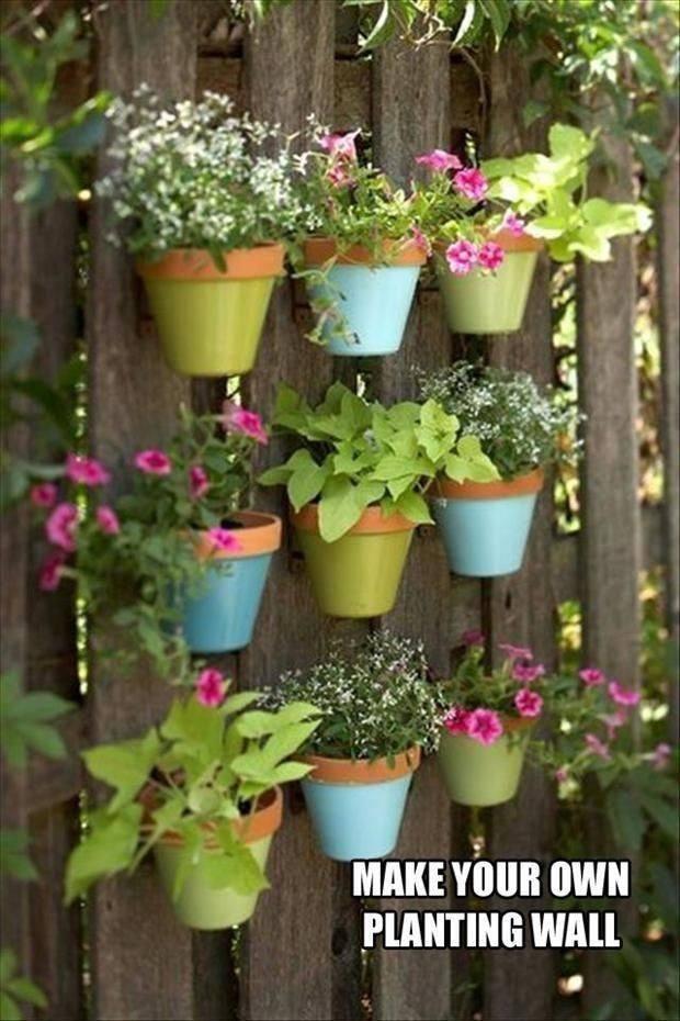 Interior Designs Fascinating DIY Painted Pots Fence