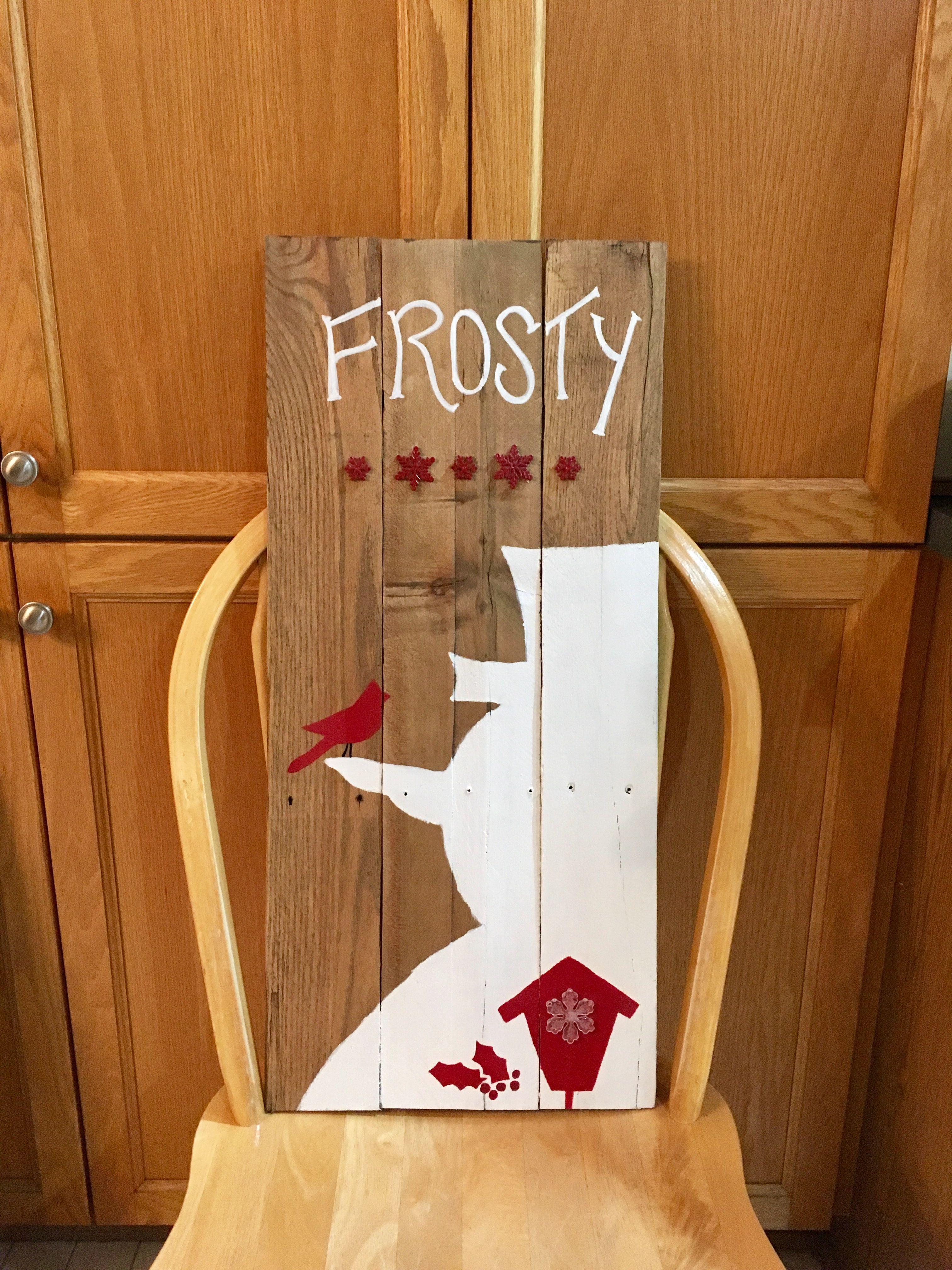 Christmas Snowman Sign by KWAB Christmas Snowman