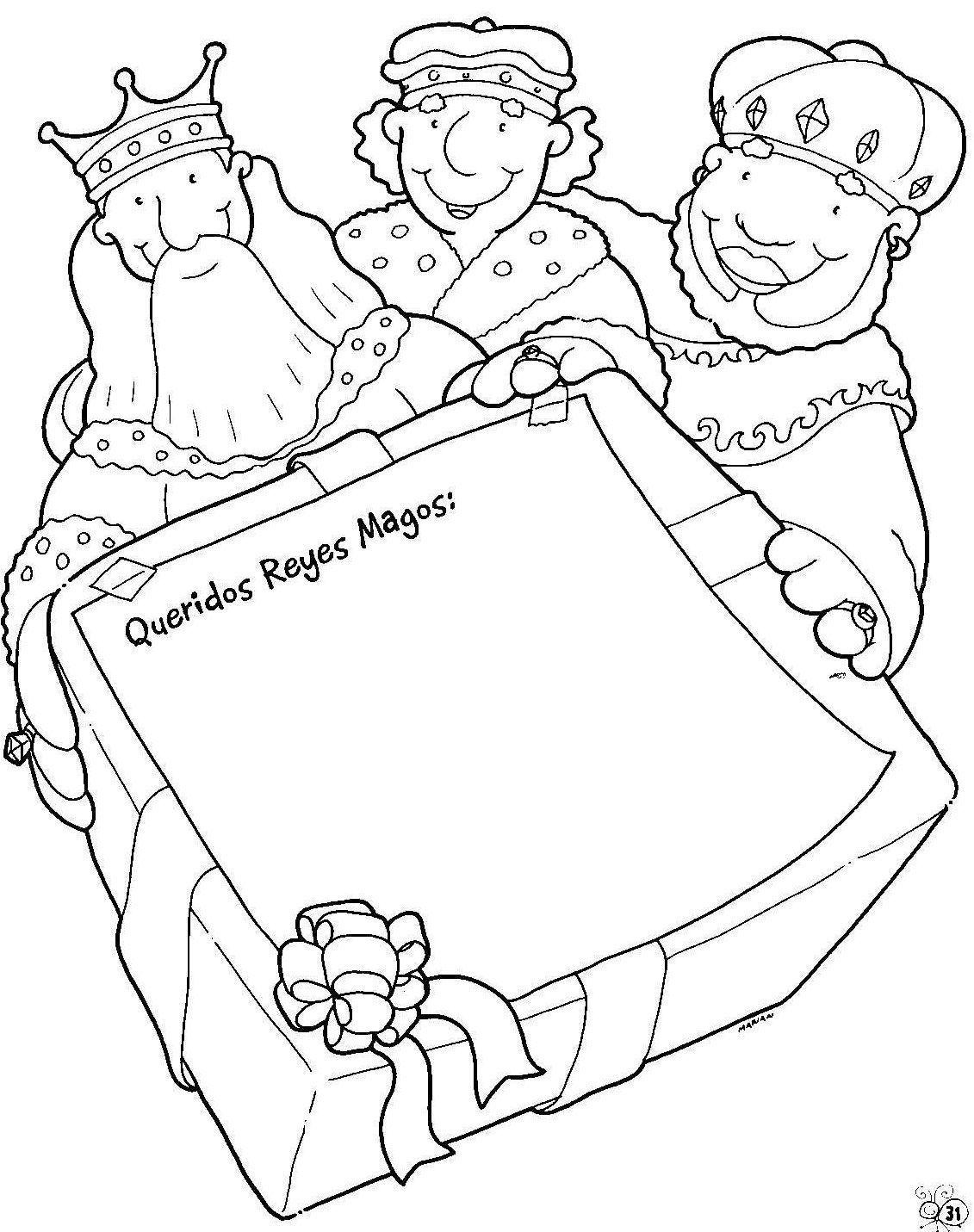 Dibujos para colorear de navidad reyes magos