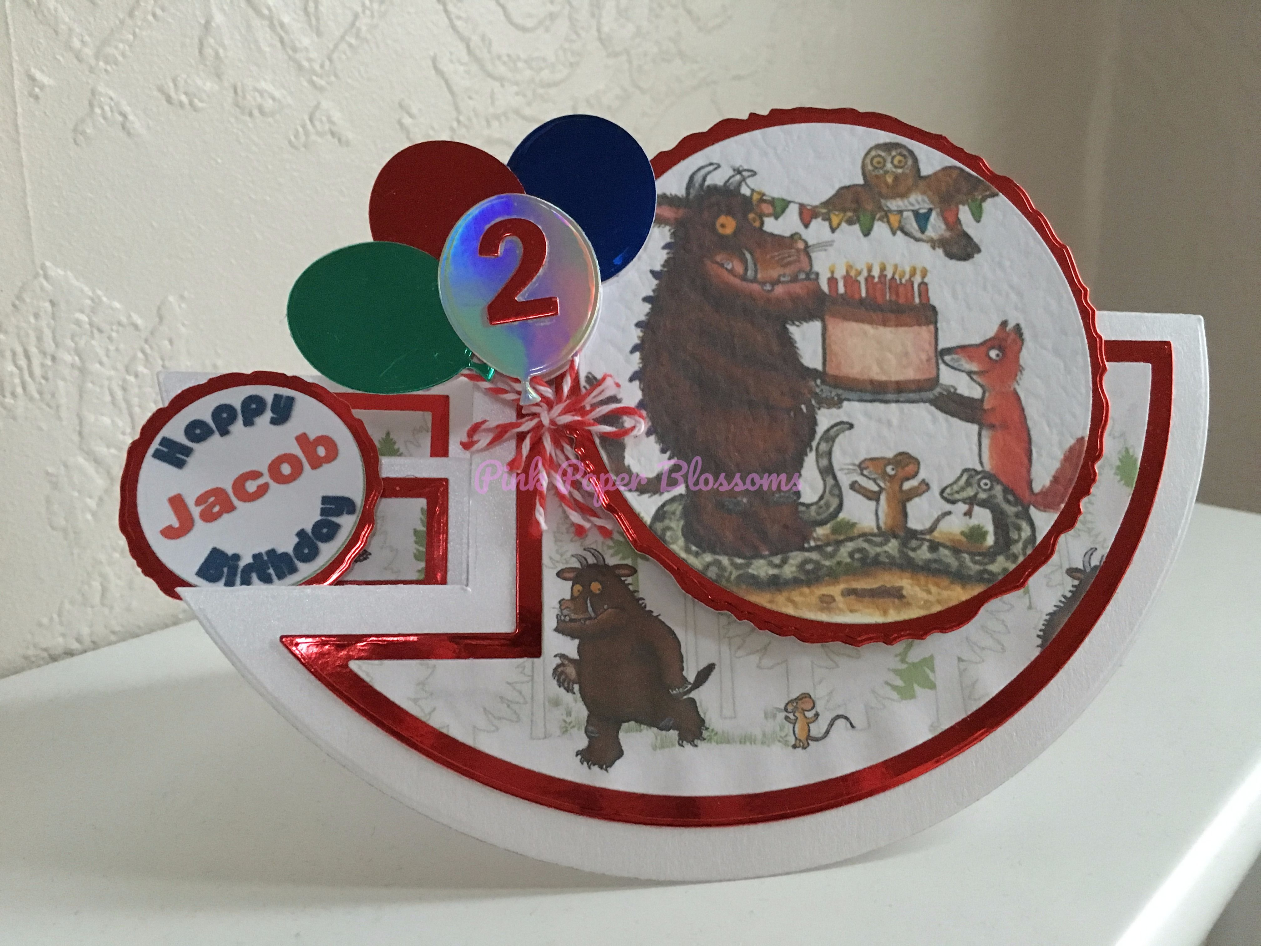 Age 2 Gruffalo Birthday Card Tattered Lace Rocker Card Die Images