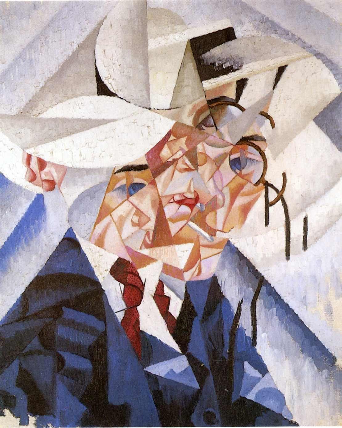 gino severini futurist artist | Self-portrait - Gino Severini - WikiPaintings.org