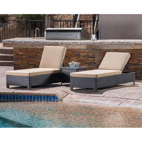 belmont 3 piece chaise lounge set patio furniture in 2018 rh pinterest com