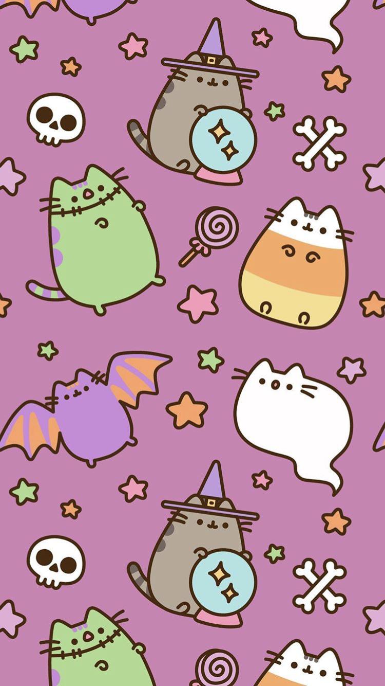 Me Encanta 3 Halloween Wallpaper Iphone Cute Wallpapers Pusheen Cute