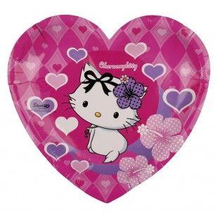 Charmmy Kitty sydämet sydänpahvilautanen 6 kpl/pkt