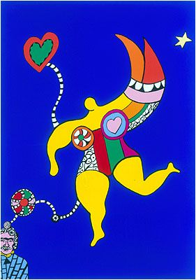 Niki De Saint Phalle | Niki De Saint Phalle, Peinture Celebre, Oeuvre D'art