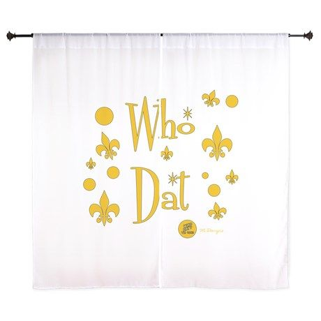 """Who Dats FUN in Gold 60"""" Curtains on CafePress.com"""