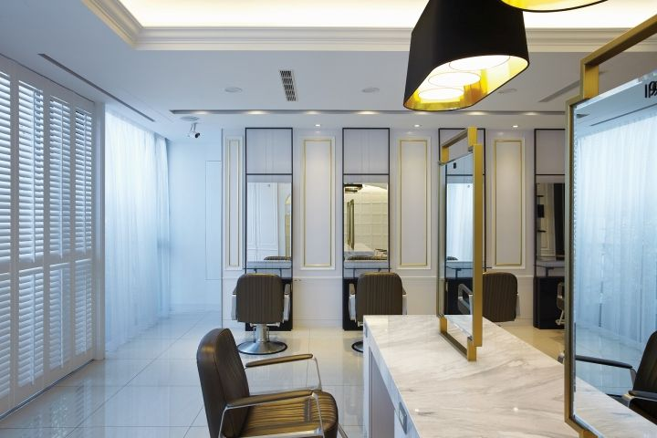 happy hair salon hair spa by 90id interior design taichung rh pinterest com