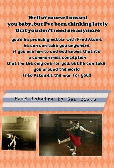 Fred Astaire By San Cisco God Knows That Its A Common Misconception That I M The Only One For You Fred Astaire Are You The One Lyrics