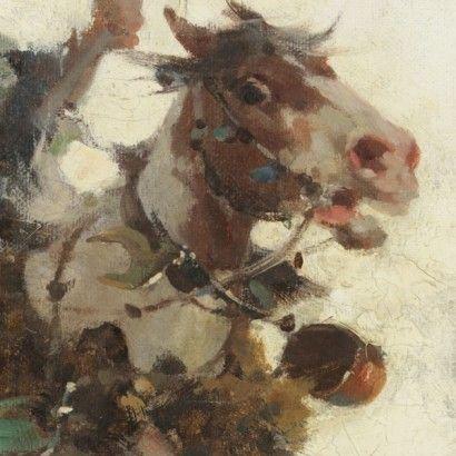 Alfredo Tominz (1854-1AC936), Unni ad Aquileia - particolare