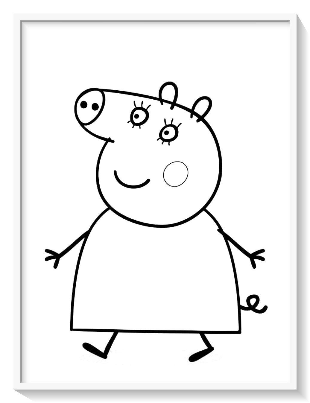 Los Más Lindos Dibujos De Peppa Pig Para Colorear Y Pintar A Todo