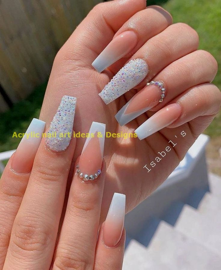 20 Great Ideas How To Make Acrylic Nails By Yourself 1 In 2020 Ombre Nails Glitter Best Acrylic Nails Winter Nails Acrylic